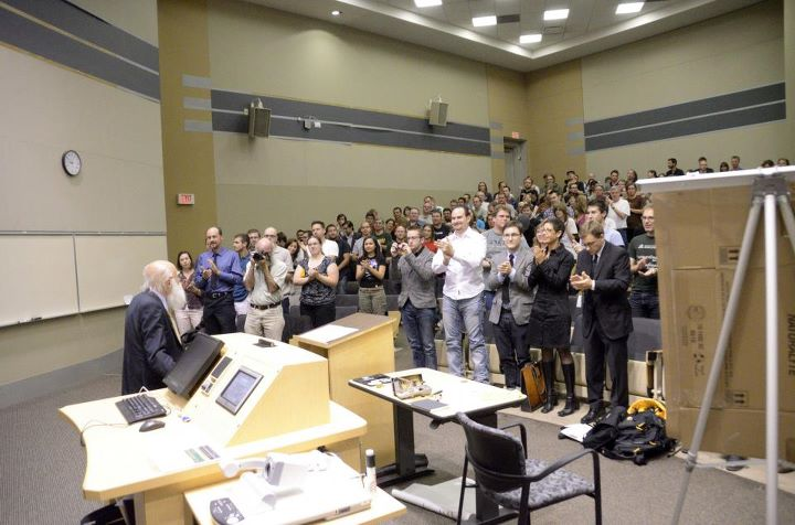 Randi receives standing ovation at the University of Alberta