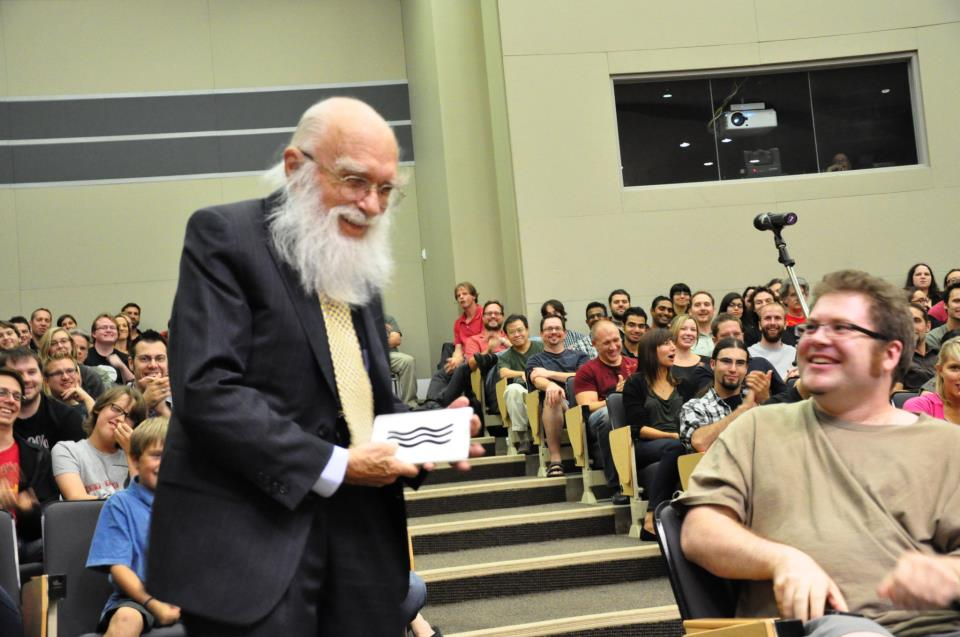 James Randi lecturing in Saskatoon
