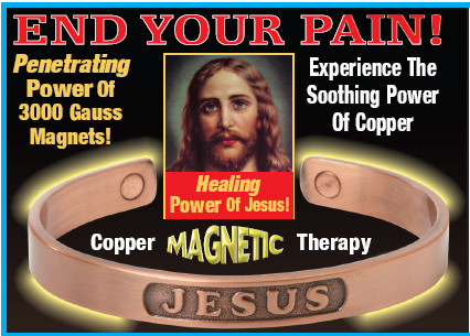 jesus copper bracelet